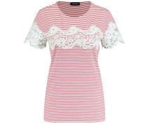 T-Shirt rot / weiß