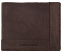 Bronco Wallets Geldbörse Leder 125 cm braun