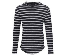 Shirt 'Alister' schwarz / weißmeliert