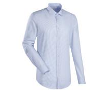 City-Hemd ' Custom Fit ' blau