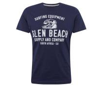 T-Shirt navy / weiß