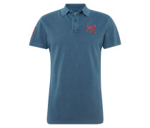 Poloshirt mit Applikation am Ärmel royalblau