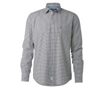 Hemd dunkelgrau / weiß