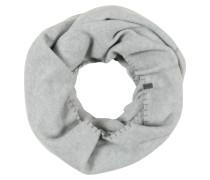 Loop-Schal aus Fleece hellgrau