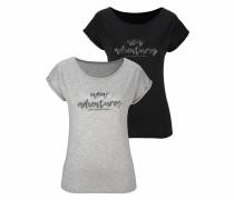 T-Shirts grau / schwarz