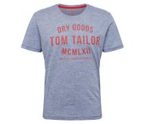 T-Shirt blaumeliert / rot
