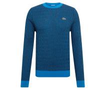 Pullover 'tricot' blau / schwarz