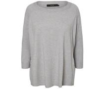 Loose-Fit Pullover mit 3/4-Ärmeln grau