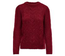 Pullover rubinrot