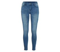 'Vicommit Lux' Slimfit-Jeans blue denim