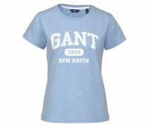 T-Shirt hellblau / weiß