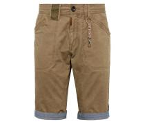 Shorts dunkelbeige / rauchblau