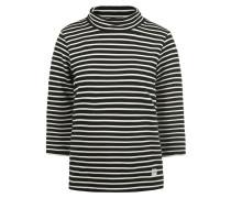 3/4-Arm-Shirt 'Dodo' schwarz / perlweiß