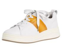 Sneaker weiß / cognac