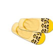 Füßlinge 'Hidden Leo' gelb / schwarz