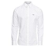 Hemd 'LS Venice Shirt' schwarz / weiß