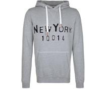 Kapuzensweatshirt 'hoody Tape NY' grau