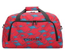 Reisetasche himmelblau / rot