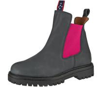 Chelsea Boots grau / dunkelpink