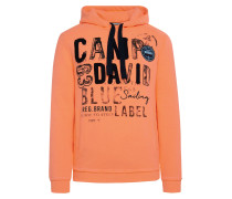 Hoodie orange / schwarz