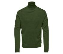 Rollkragen Pullover dunkelgrün