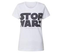 Shirt 'Stop Wars' schwarz / weiß