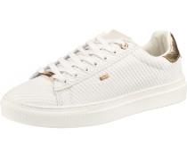 Sneaker 'Crista' weiß / gold