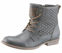 Shoes Schnürstiefelette taubenblau / braun