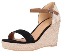 Sandalen beige / hellbraun / schwarz