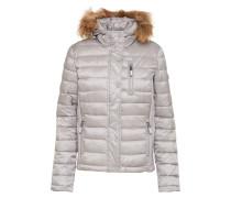 Winterjacke 'luxe Fuji' grau / silber