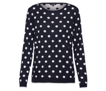 Pullover 'Dot Active' navy / weiß