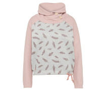 Pullover 'Eulo Batwing' hellgrau / rosa