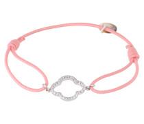 Armband 'Floris' rosa / silber
