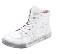 Schnürstiefelette pink / weiß