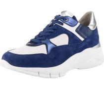 Sneakers Low blau / silber / weiß