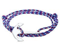 Armband blau / rot / silber / weiß