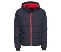Steppjacke 'Sports Puffer' navy / rot