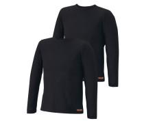 Langarmshirt (2 Stck.) schwarz