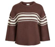 Pullover burgunder / naturweiß