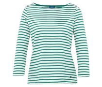 Langarmshirt smaragd / weiß
