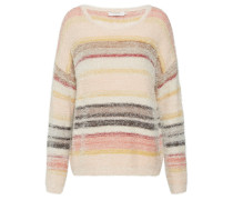 Pullover 'Chloa' creme / grau / pastellrot