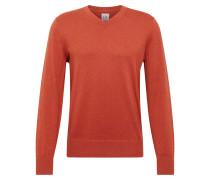Pullover 'v-Core Cotton Vee' orangerot