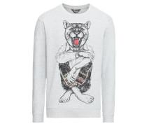 Sweater 'Senetor' graumeliert / schwarz