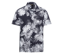 Hemd 'bowling Shirt' navy / weiß