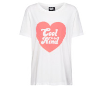 Shirt 'Cool to be Kind' weiß
