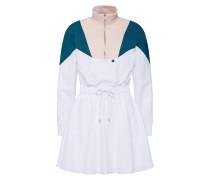 Kleid petrol / puder / weiß