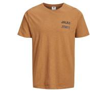 T-Shirt braun / schwarz