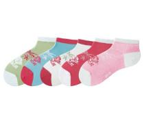 Füßlinge hellblau / apfel / pink / weiß