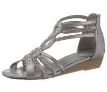 Sandalette taupe / hellgrau