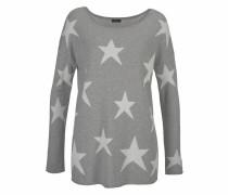 Pullover graumeliert / perlweiß